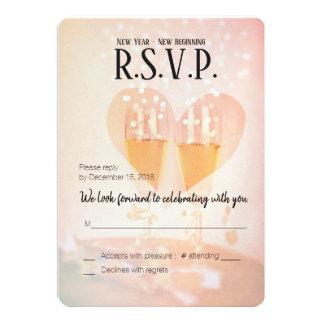 新年の新しい始めかWedding/RSVP新年の カード