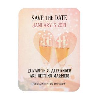 新年の新しい始めの結婚式の保存日付 マグネット
