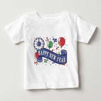 新年の時計 ベビーTシャツ