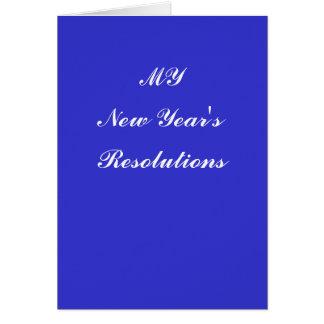 新年の決断 カード