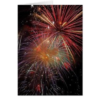 新年の花火の輝き カード
