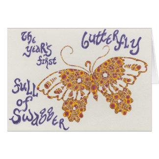 新年の蝶俳句カード カード