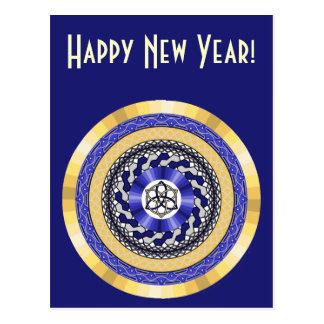 新年の郵便はがきの色 ポストカード