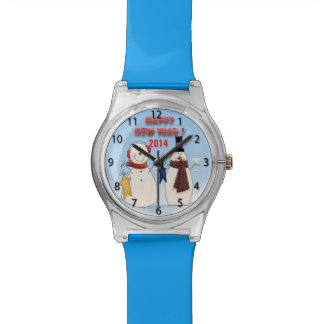新年の雪だるまの腕時計 腕時計