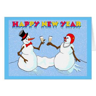 新年の雪だるま カード