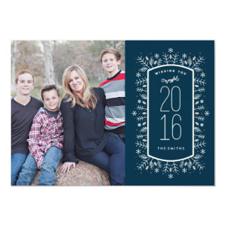 新年の願いの休日の写真カード 12.7 X 17.8 インビテーションカード