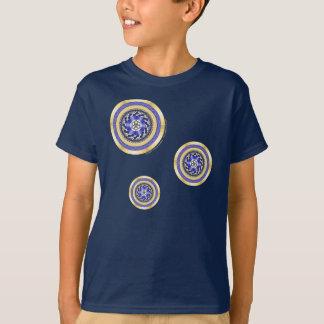 新年子供およびベビーの暗闇のワイシャツの色 Tシャツ
