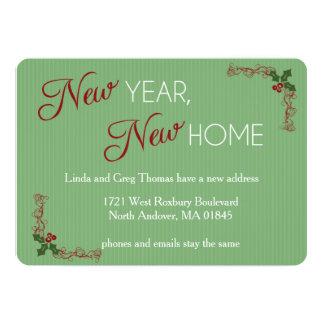 新年、新しい家のクリスマスの移動発表 カード