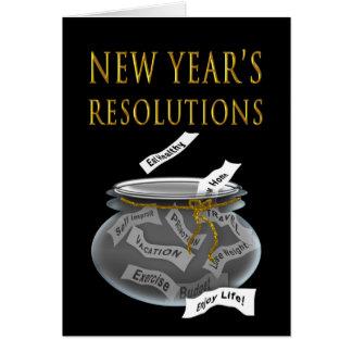 新年-瓶の決断 カード