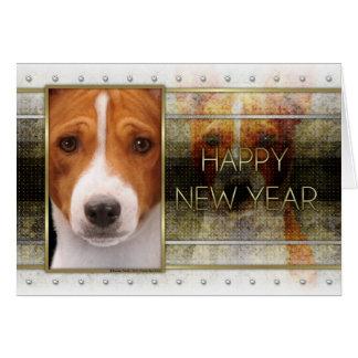 新年-金優雅- Basenji カード
