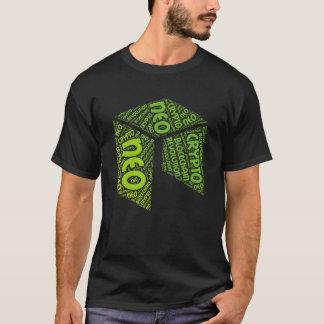 新改革のBlockchainの暗号の単語のワイシャツ Tシャツ