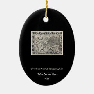 新星のtotiusのterrarum、1606匹のアンティークの世界地図 セラミックオーナメント