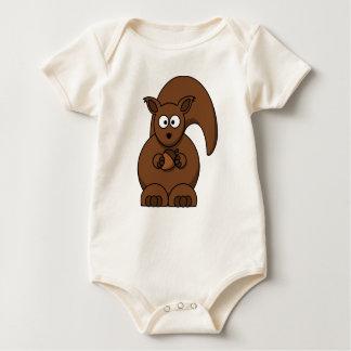 新生児のための小さいリスのクリーパー ベビーボディスーツ