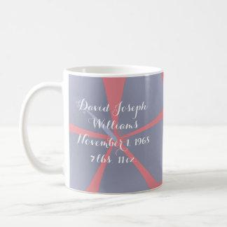 新生児の名前入りな聖書の詩のマグ コーヒーマグカップ