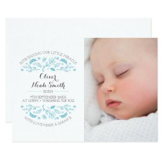 新生児の男の子の発表かサンキューカード カード