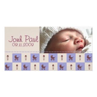 新生児の男の子-カスタマイズ写真カード カード