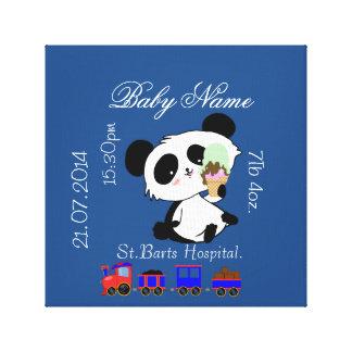 新生児の発表のパンダの赤ん坊 キャンバスプリント