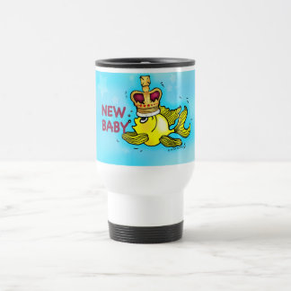 新生児の発表の幸運な金魚の身に着けている王冠 トラベルマグ