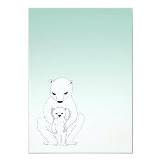新生児の発表/ベビーシャワー招待状 12.7 X 17.8 インビテーションカード