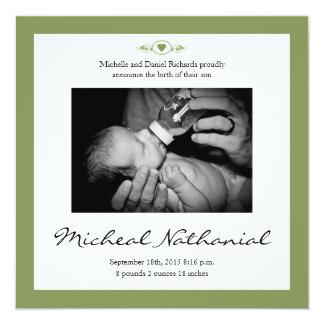 新生児の誕生の発表の賢人 カード