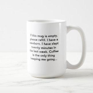 新生児は握りです。 コーヒーを必要とします! コーヒーマグカップ