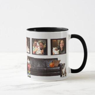 新生児を歓迎するカスタムでクラシックな家族のマグ マグカップ