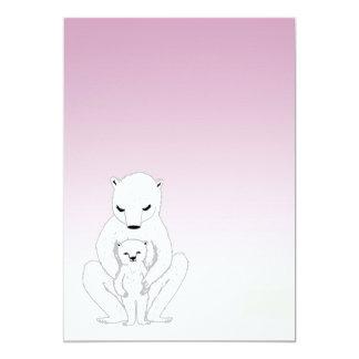 新生児/ベビーシャワー-かわいい白くま カード