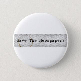 新聞ボタンを救って下さい 5.7CM 丸型バッジ