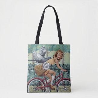 新聞女の子のトートバック トートバッグ
