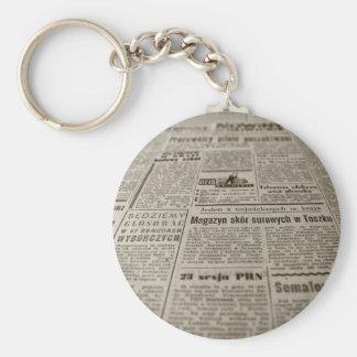 新聞用紙 キーホルダー