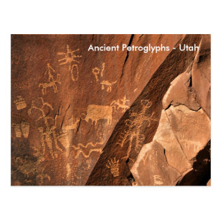 新聞石の岩石彫刻 ポストカード