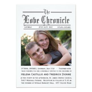新聞結婚式招待状 カード