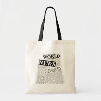 新聞 トートバッグ