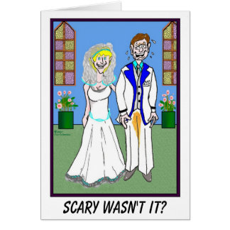 新郎および小便をされたズボンの結婚式の招待状 カード