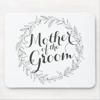 新郎のシンプルな花の結婚式のマウスパッドの母 マウスパッド