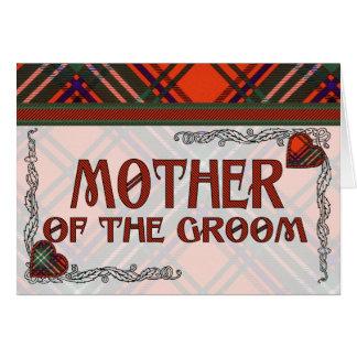 新郎の招待状のSetonのタータンチェックの母 カード