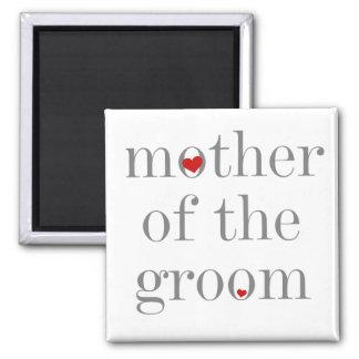 新郎の灰色の文字の母 マグネット