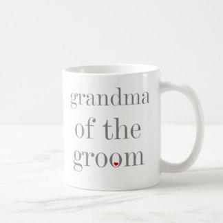 新郎の灰色の文字の祖母 コーヒーマグカップ