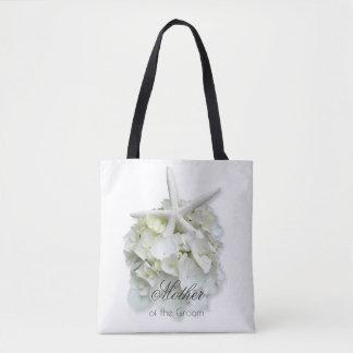 新郎の白い花のヒトデのバッグの母 トートバッグ