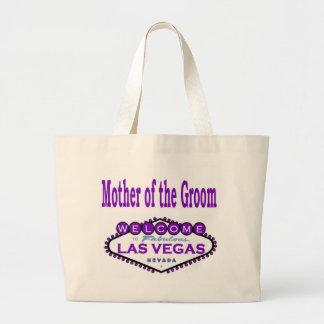 新郎の紫色のクラシックなバッグのラスベガスの母 ラージトートバッグ