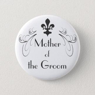 新郎ボタンの装飾的な(紋章の)フラ・ダ・リの母 5.7CM 丸型バッジ