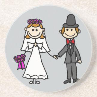 新郎新婦の結婚式の漫画 コースター