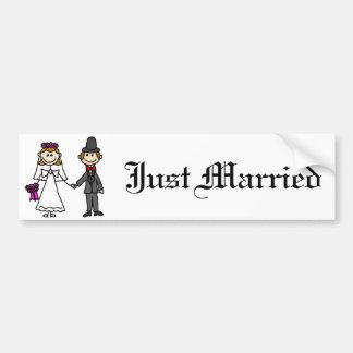 新郎新婦の結婚式の漫画 バンパーステッカー