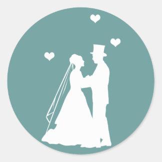新郎新婦の結婚式 ラウンドシール
