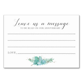 新郎新婦のSucculentカードへのメッセージ カード