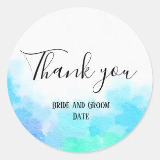 新郎新婦は結婚式のステッカー感謝していしています ラウンドシール