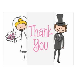 新郎新婦は結婚式の郵便はがき感謝していしています ポストカード
