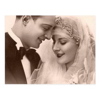 新郎新婦を結婚するヴィンテージ ポストカード