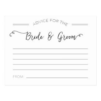 新郎新婦カードのためのアドバイス ポストカード