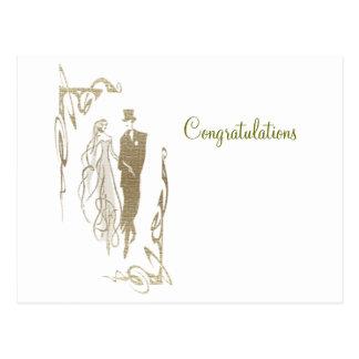 新郎新婦結婚式及び記念日の芸術のギフト ポストカード